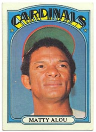 1972 Topps Baseball Cards      395     Matty Alou